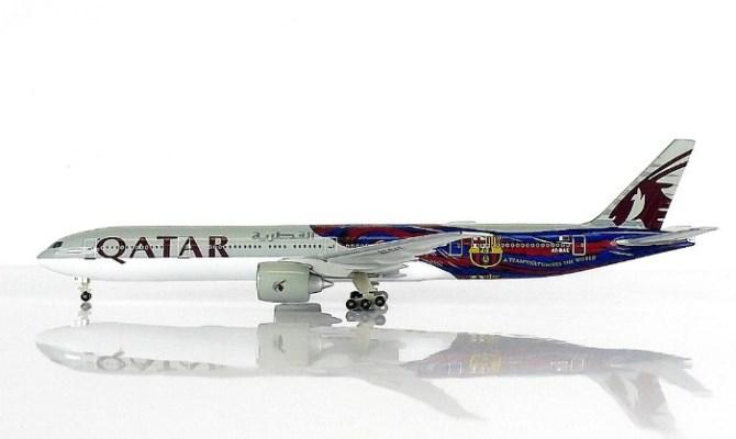 予約 SKY  777-300ER カタール航空 FCバルセロナ 0783QT