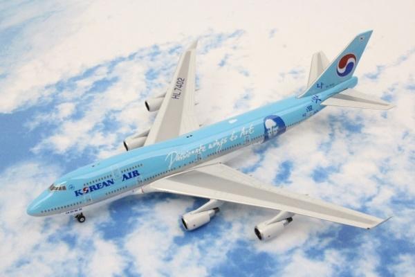 中古 フェニックス  B747-400 コリアンPassionate wings to Art モナリザ HL7402
