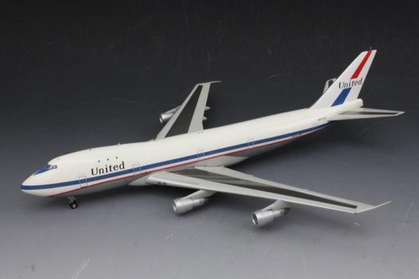 中古 インフライト  B747-100 ユナイテッド 70年代 ポリッシュ仕上 N4710U